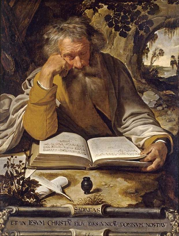 Saint Andrew. Oil on Canvas. Artus Wollfort (1581–1641). Private Collection, Public Domain. Via Wikipedia Commons.