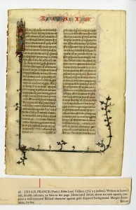 Recto of Leaf Opening the Book of Zachariah, plus Clipping from its Sale Catalogue. Courtesy of Flora Lamson Hewlett Library, Graduate Theological Union, Berkeley, CA. Reproduced by permission.