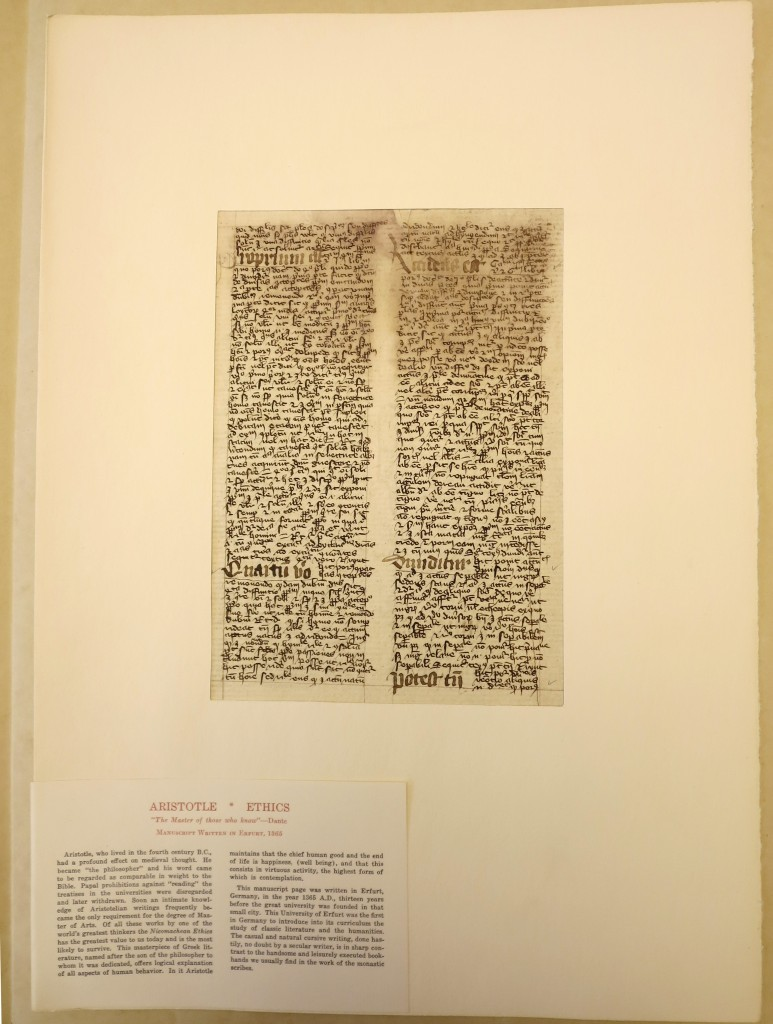 Otto Ege Collection, Beinecke Rare Book and Manuscript Library, Yale University. Ege Manuscript 51, Leaf 6 viewed through mat
