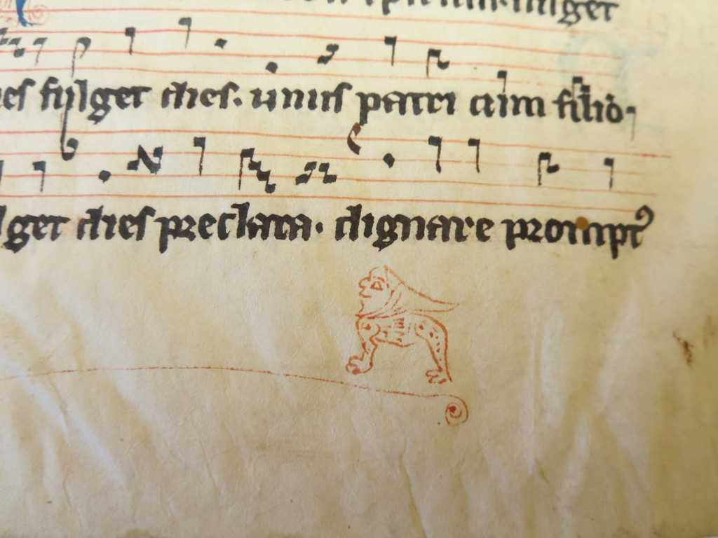 Album, Specimen Leaf from 'Ege Manuscript 8', Recto, Detail: Hybrid hooded creature standing ground.