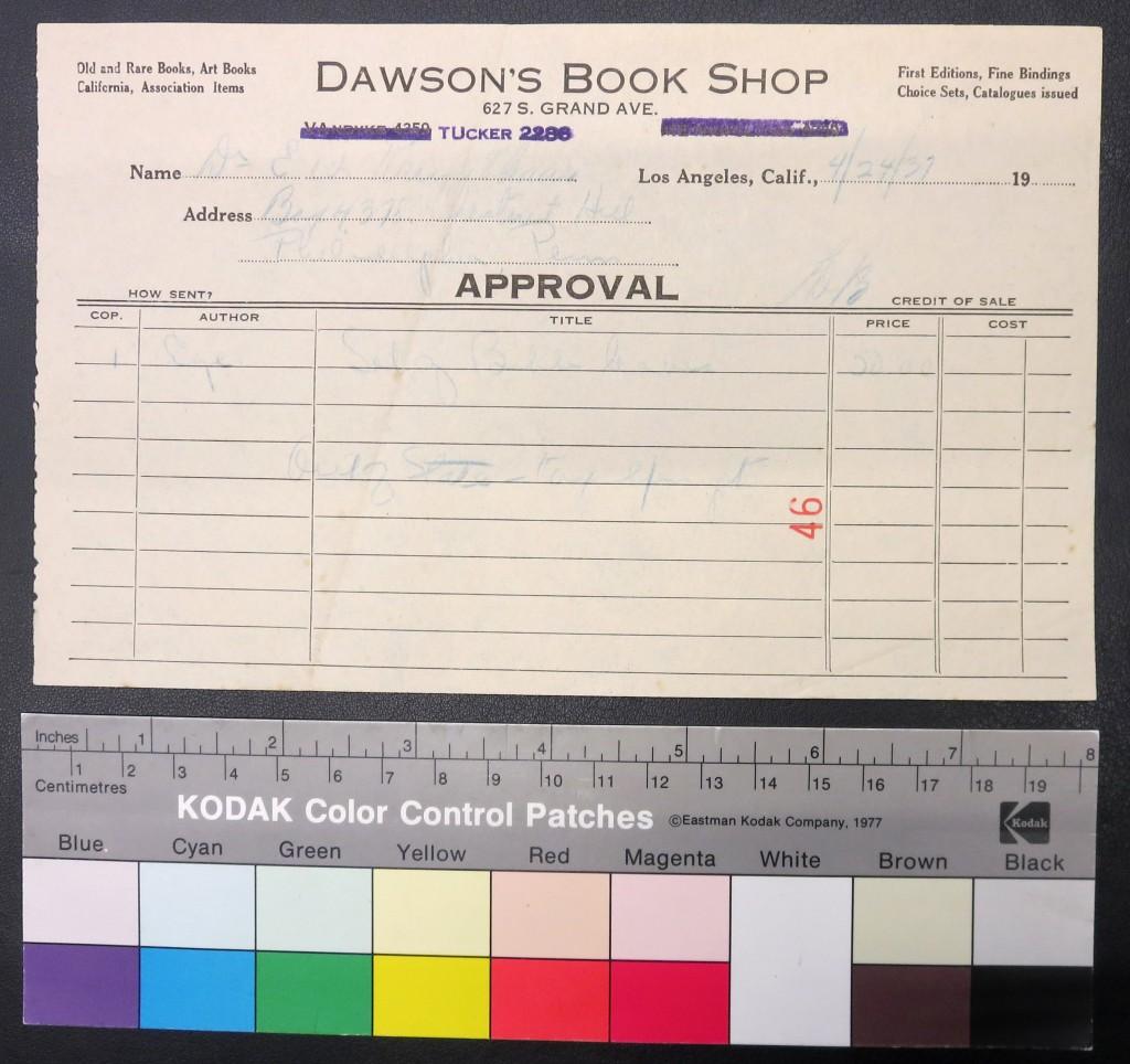 IMG_3183 UPenn Ege Famous Books Portfolio Dawsons Receipt