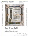 Poster for 'In a Knotshell' (November 2012)with border