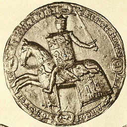 Seal of Alfonso X of Castile. As reproduced by Otto Posse (1847-1921) [Public domain], via Wikimedia Commons.