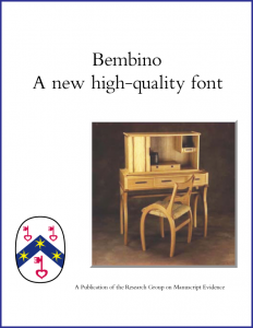Cover of Booklet for Bembino font