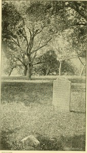 "Tombstone of Conrad Weiser, from Morton L. Montgomery, ""Life and Times of Conrad Weiser"" (1893), via Wikipedia Commons."