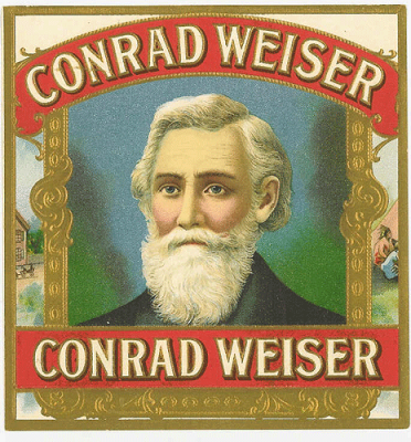 Conrad Weiser Cigars, manufactured in Lebanon Pennsylvania, via Wikipedia Commons.