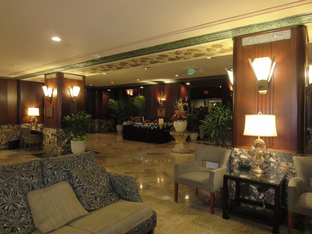 Entrance to the Palm Court from the Lobby at the Hilton Netherland Plaza Hotel. Photography by Mildred Budny.