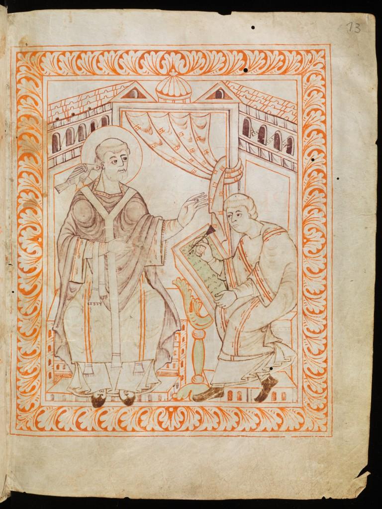 Saint Gallen, Stiftsbibliothek, Cod. Sang. 390, folio 13r. via http://www.e-codices.unifr.ch.