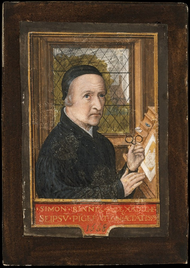 Small-format Self-Portrait by Simon Bening, dated 1558. Tempera on Parchment. Metropolitan Museum of Art. Image via metmuseum.org via Creative Commons.