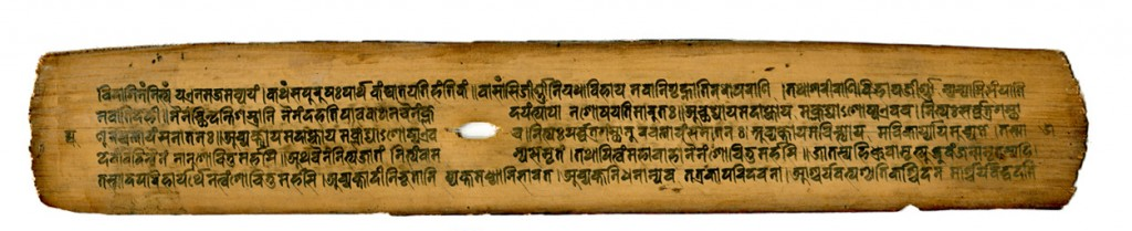 (zoo13poster 6) Palm-Leaf Manuscript from Nepal, probably 15th-century CE. Private Collection.