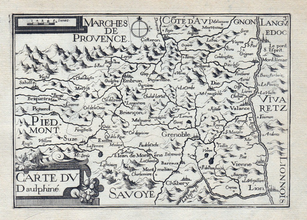 'Carte du Dauphiné' by Christophe (or Nicolas) Tassin, printed in 1630. Private Collection, reproduced by permission.