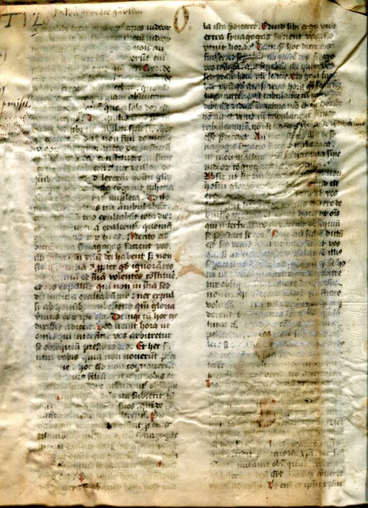 Augustine Homilies Bifolium, Folio I recto. Private Collection, reproduced by permission.