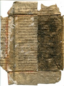 Private Collection, Bifolium of a Carolingian Copy of the Homilies on the Gospels by Gregory the Great. Photograph reproduced by permission.