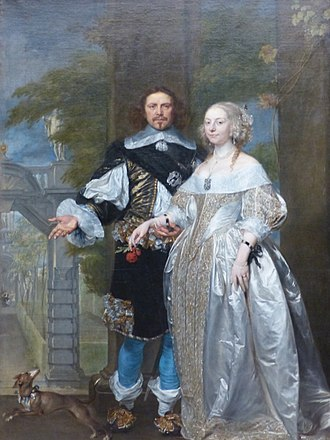 Portraits of Margaret Cavendish and her husband, William Cavendish, 1st Duke of Newcastle-upon-Tyne. Oil on canvas, attributed to Gonzales Coques (between 1614 and 1618 - 18 April 1684). Image via Wikipedia Commons.