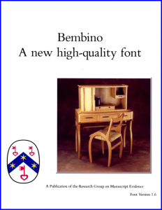 Bembino Version 1.6 Booklet Front Cover