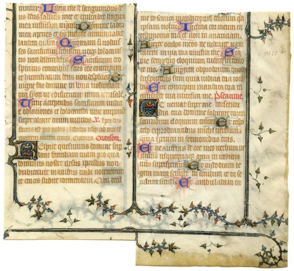 Rejoined Pieces of a Leaf from a Book of Hours. Private Collection, reproduced by permission.