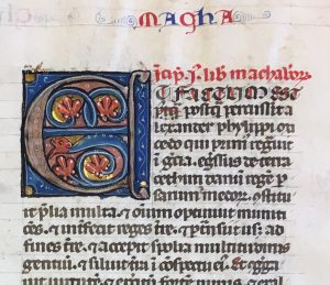 Opening of the Book of Maccabees in Otto Ege MS 19. Private Collection.