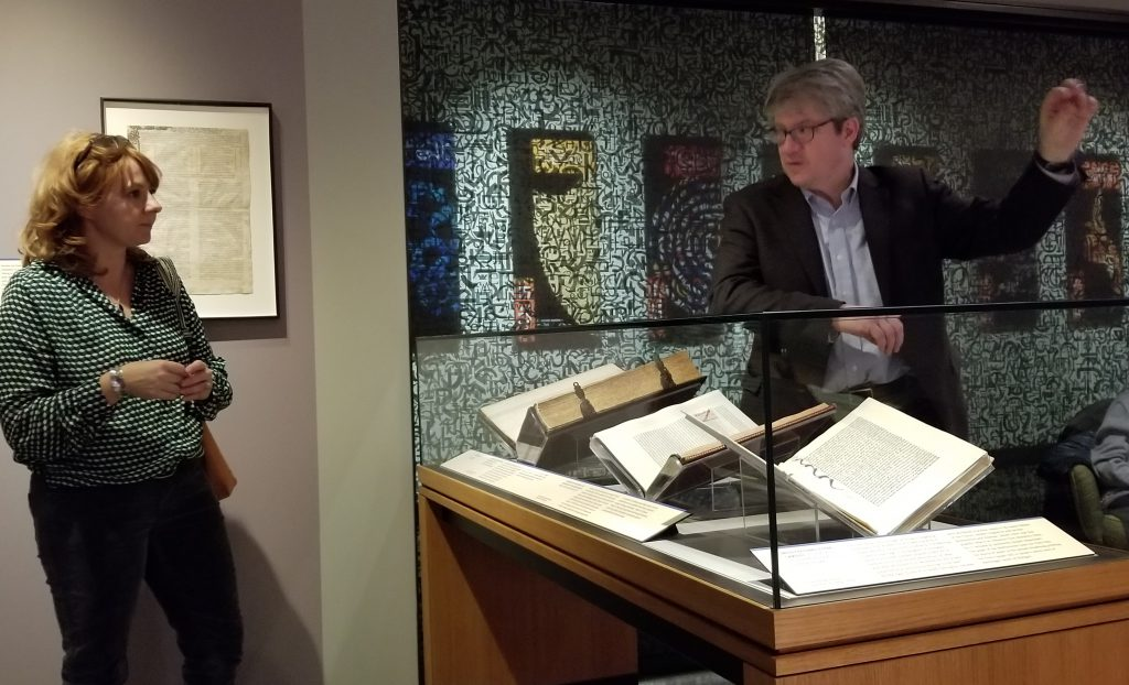 "At the Exhibition of ""Gutenberg and After"" at Princeton University in 2019, the Co-Curator Eric White answers questions."