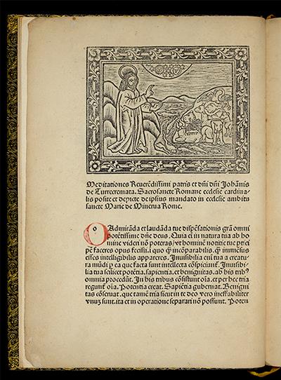 "Princeton University Library, Scheide Library. Turrecremata, ""Meditations"" (Albi: Johann Neumeister, 1481)."