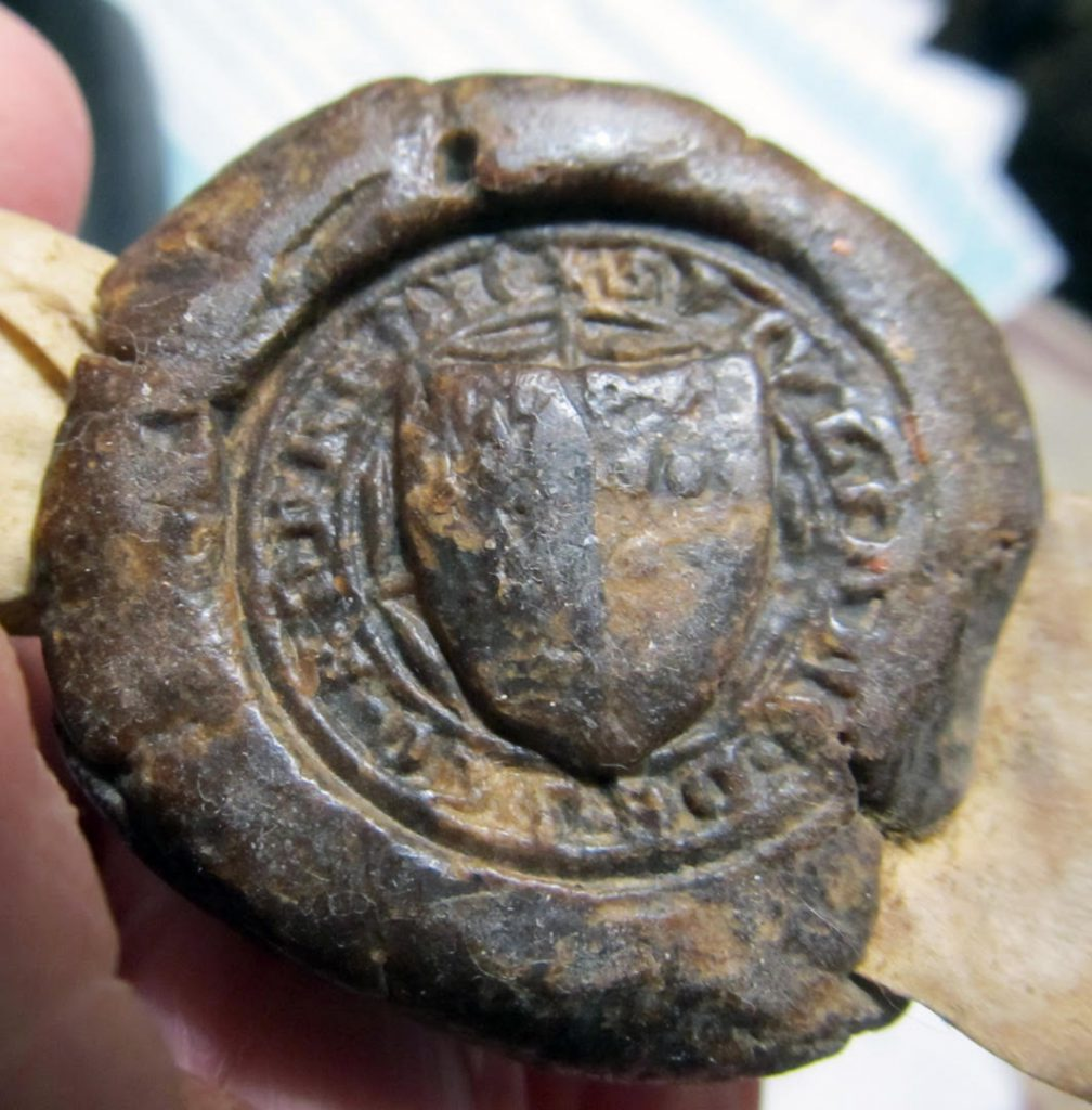 Charter 1: 6 Richard II Charter Seal.