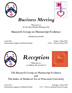 2019 Reception and Business Meeting Invitations.