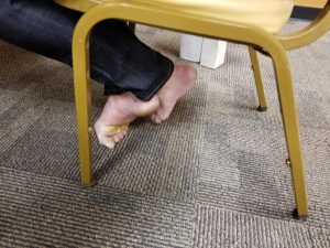 Bare Feet in the Board Room at the 2019 Congress.