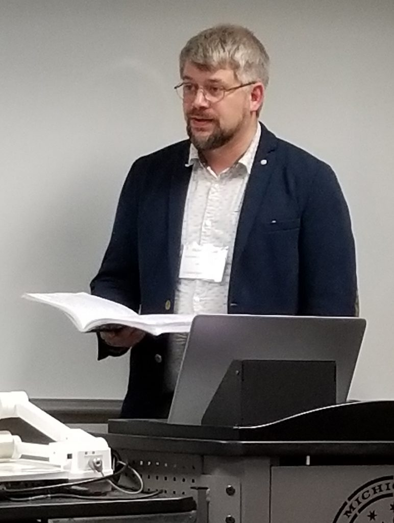 Michael Presents His Paper at the the 2019 Congress.