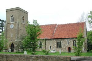 Church of Saint Mary, High Ongar, Essex, with 12th-Century Nave. Photograph by John Salmon (8 May 2004), Image via Wikipedia.