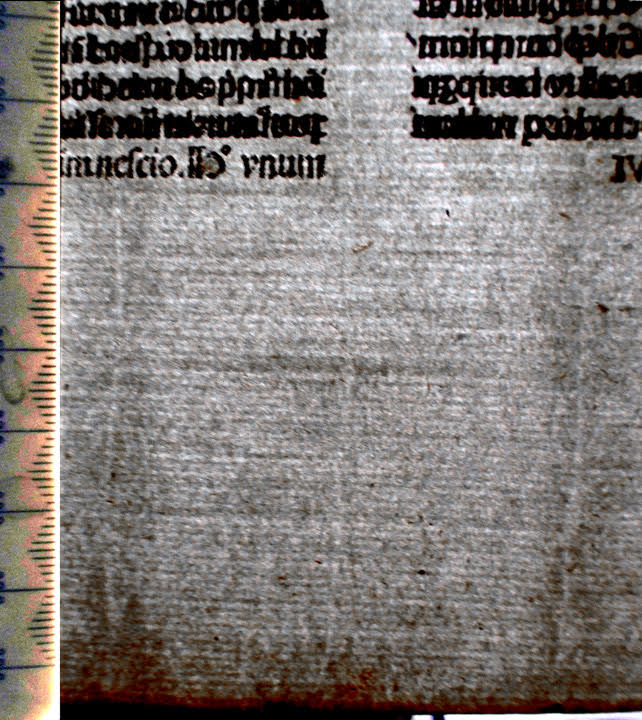 Paper of Bible printed in Venice 1479.