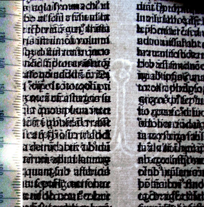 Anchor Watermark in Bible printed in Venice 1479.