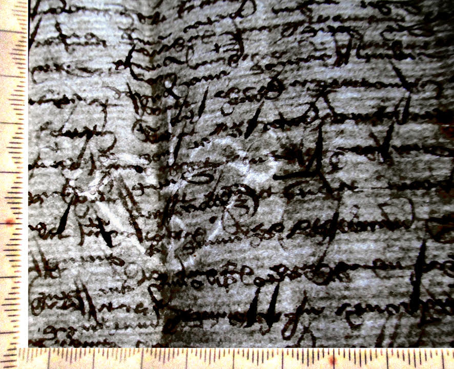 Bow-and-Arrow Watermark in 1416 French Marriage Contract.