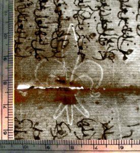 Private Collection, Turkish Manuscript Fragment, Fleur-de-lys Watermark  close to Briquet No. 6915.