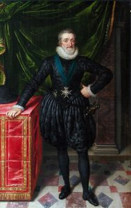 Paris, Musée du Louvre, Department of Paintings, Henry IV, King of France in Black Dress (1610), by Frans Pourbus the Younger. Image Public Domain via Wikimedia Commons.