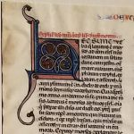 Set 1 of Otto Ege's FOL Portfolio, Leaf 19 recto: Deuteronomy title and initial.