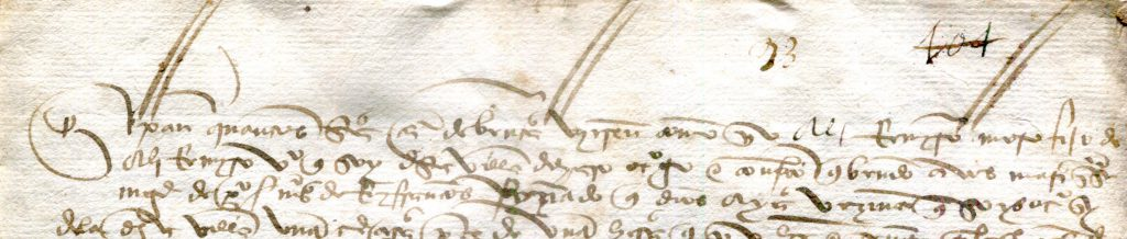 Private Collection, Sale Contract of December 1497 from Haro, Detail.