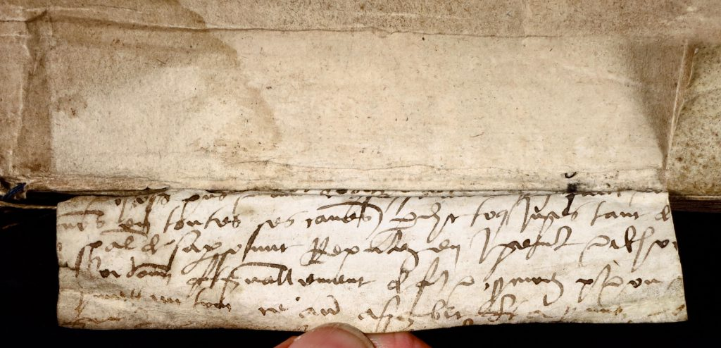 Smeltzer Collection, Henri de Suberville (1598): Vellum Support 1, 'Upper', Face of Text.
