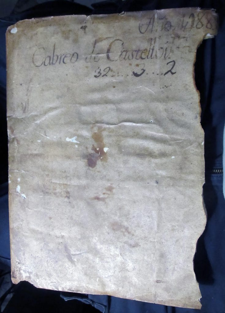 Private Collection, Document of 1437 from Barcelona, Dorse.