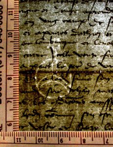 Private Collection, Single-Sheet Document recording 3 Land Purchases in Athis dated 1493 to 1509, Watermark.