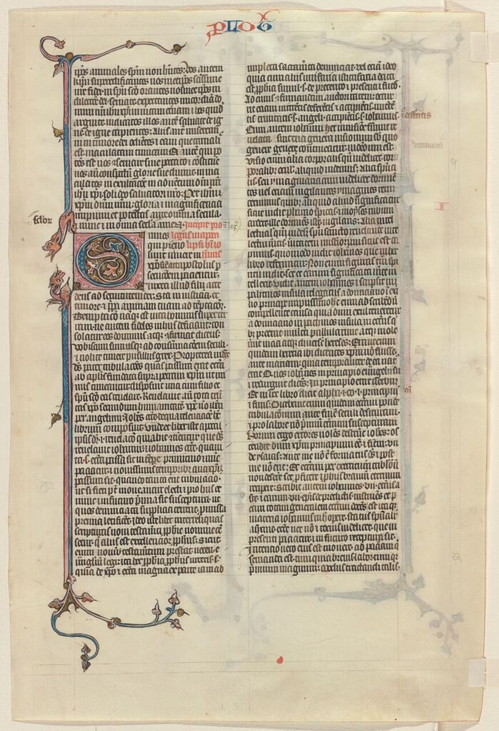 Beinecke Rare Book & Manuscript Library, Otto Ege Collection, MS 14, Apocalypse Prologue Opening Leaf: Original recto.