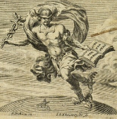 Hermes Trismegistus. Frontispiece image (Lyons, 1669) via Wikimedia Commons and Wellcome Images (Wellcome_L0000980).