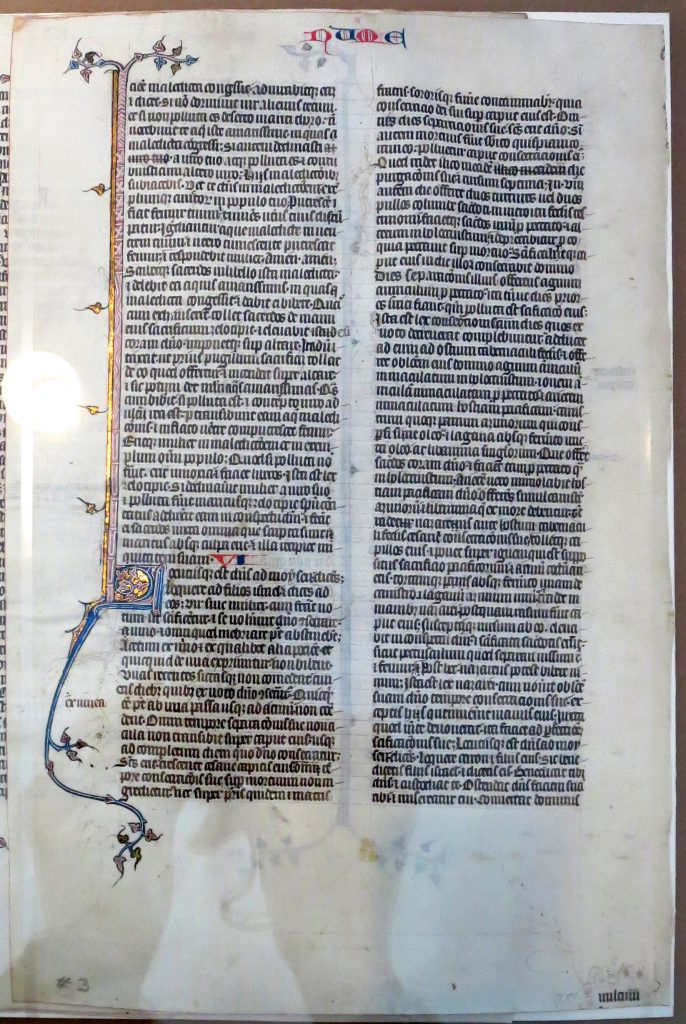 "Beinecke Rare Book & Manuscript Library, Otto Ege Collection, ""New Acquisitions Exhibition"", Ege MS 14: Recto of Leaf from the Book of Numbers (5:88 - 6:26)."