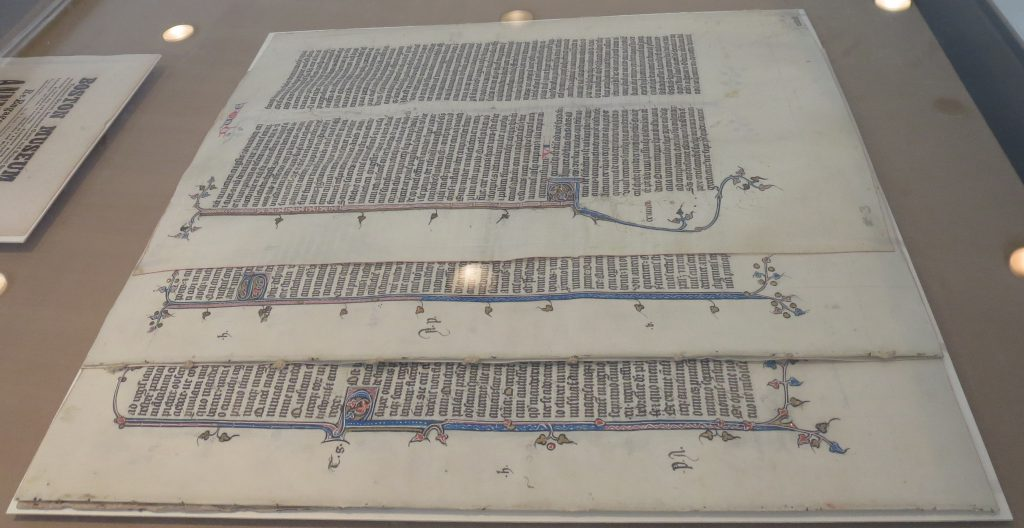 Beinecke Rare Book & Manuscript Library, Otto Ege Collection, New Acquisitions Exhibition (2016). Ege MS 14 in pieces.