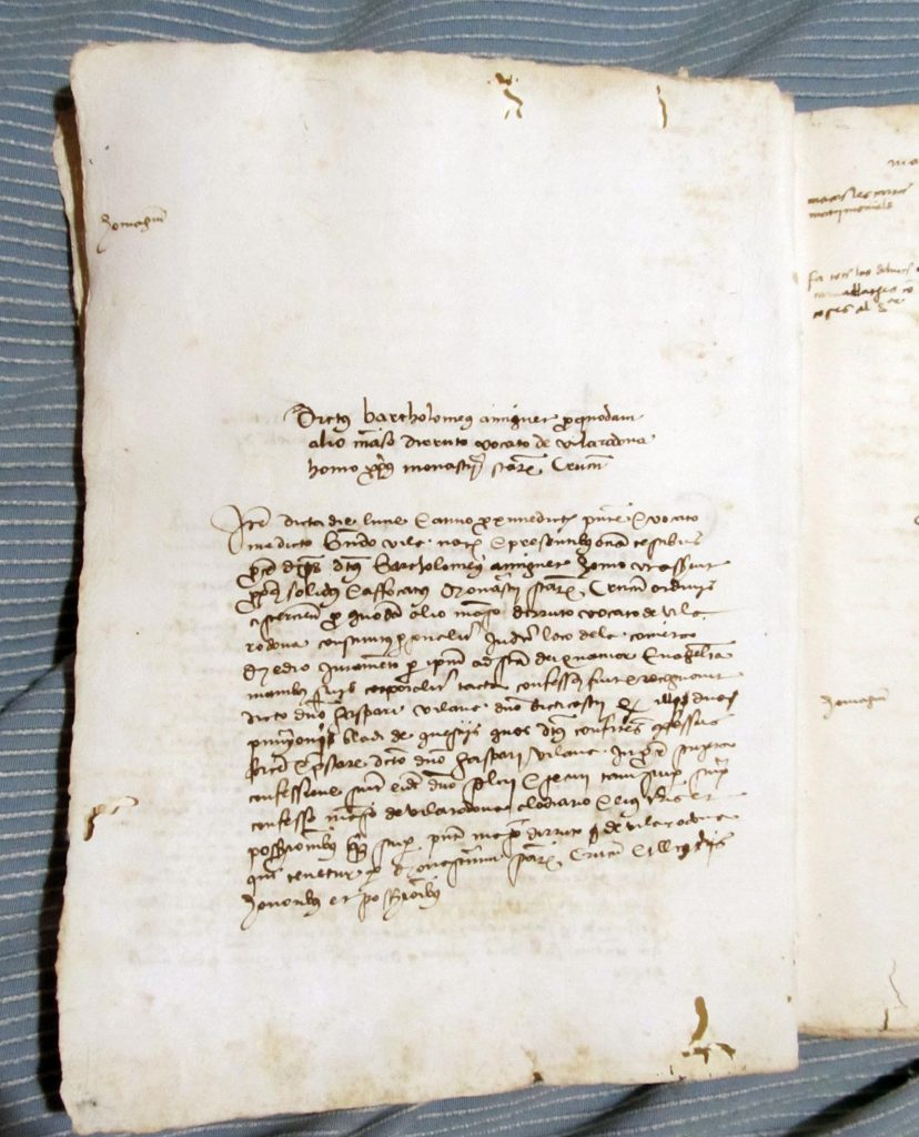 Private Collection, Spanish Castle Cartulary, Part-Filled Verso.