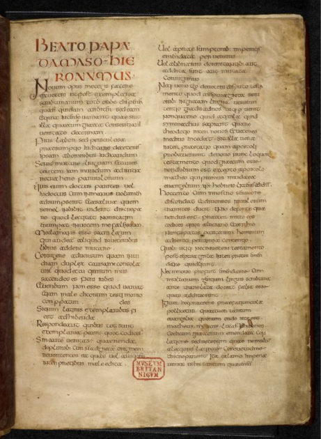 © The British Library Board. Royal MS 1 E VI, folio 2r.