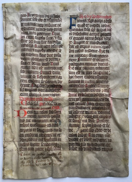 J. S. Wagner Collection, Leaf from Ege Manuscript 22, recto. Reproduced by permission.