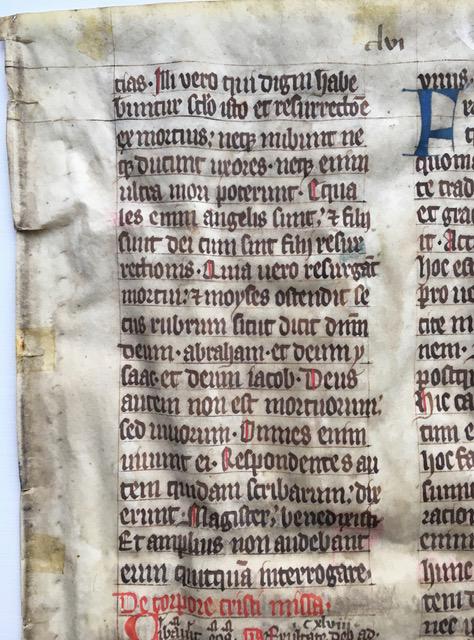 J. S. Wagner Collection, Ege Manuscript 22, Folio clvi, recto, upper right.