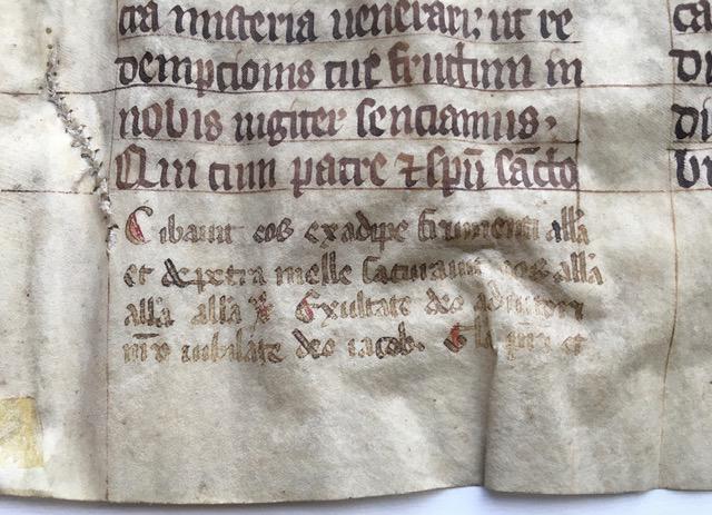 J. S. Wagner Collection, Ege Manuscript 22, Folio clvi, recto, bottom left.