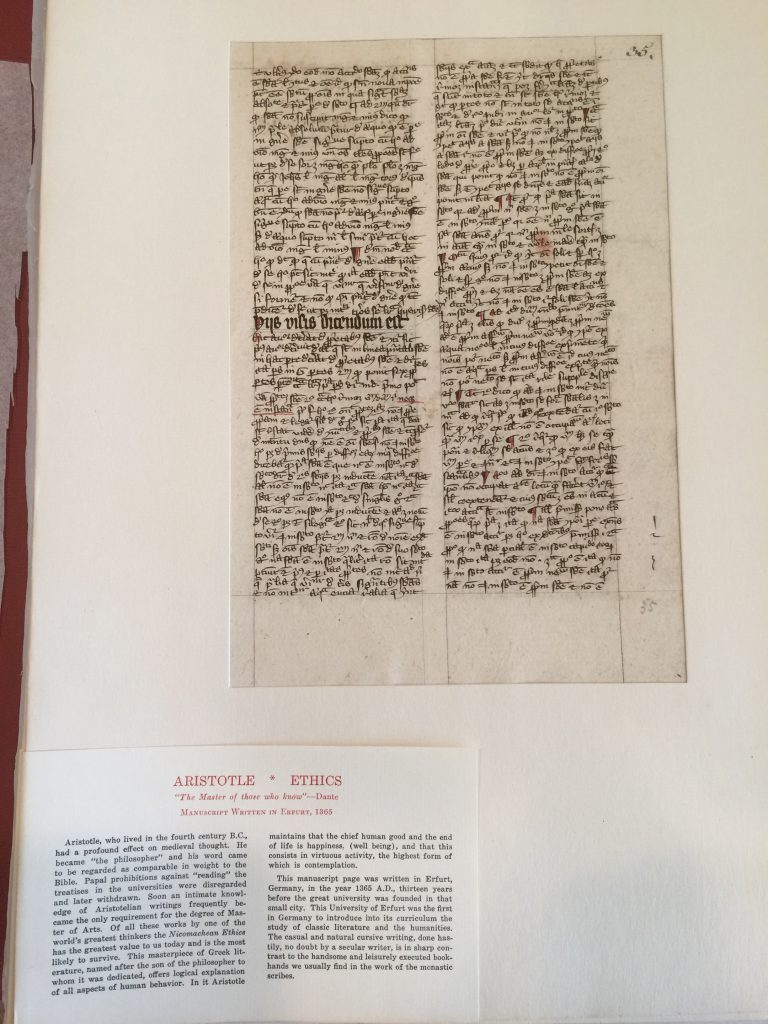 Private Collection, Ege's Famous Books in Nine Centuries, Aristotle Leaf within Mat. Reproduced by permission.