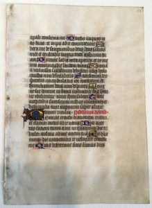 Private Collection, Ege's Famous Books in Nine Centuries, Book of Hours Leaf, Front. Reproduced by permission.