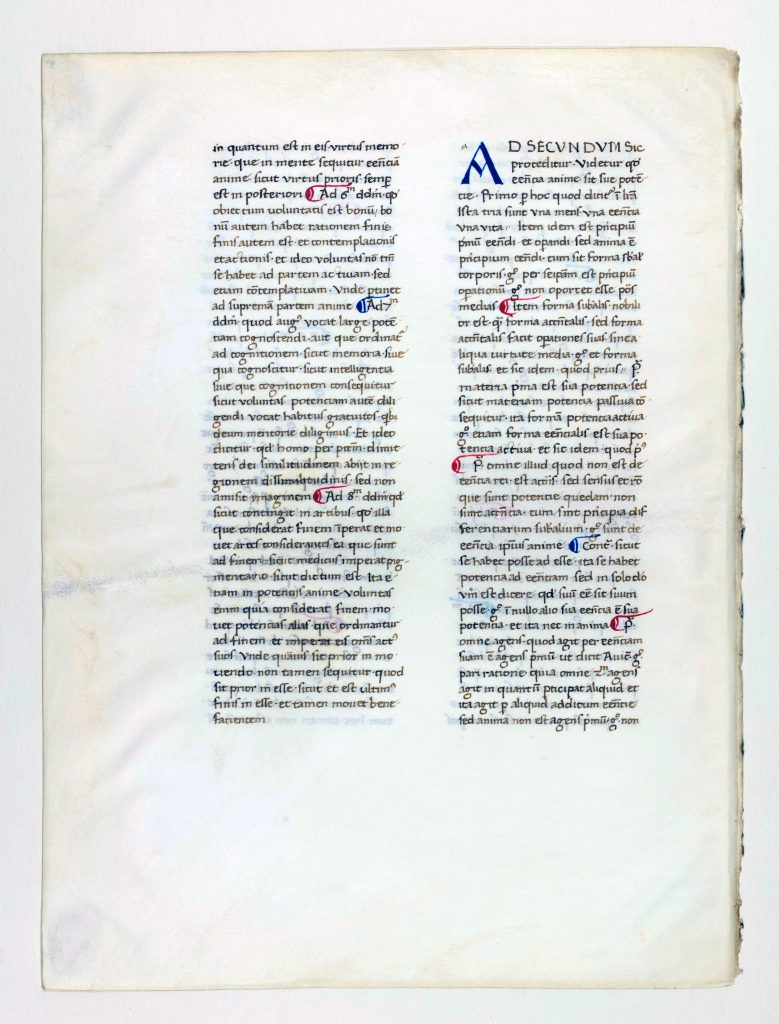 "Otto F. Ege: Fifty Original Leaves from Medieval Manuscripts, Leaf 40, ""Recto"", Special Collections and University Archives, Stony Brook University Libraries."